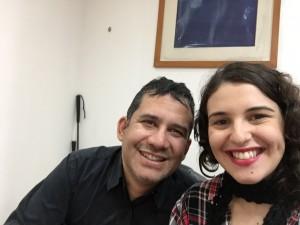 Gustavo Serrano e Marina Leite no momento da entrevista